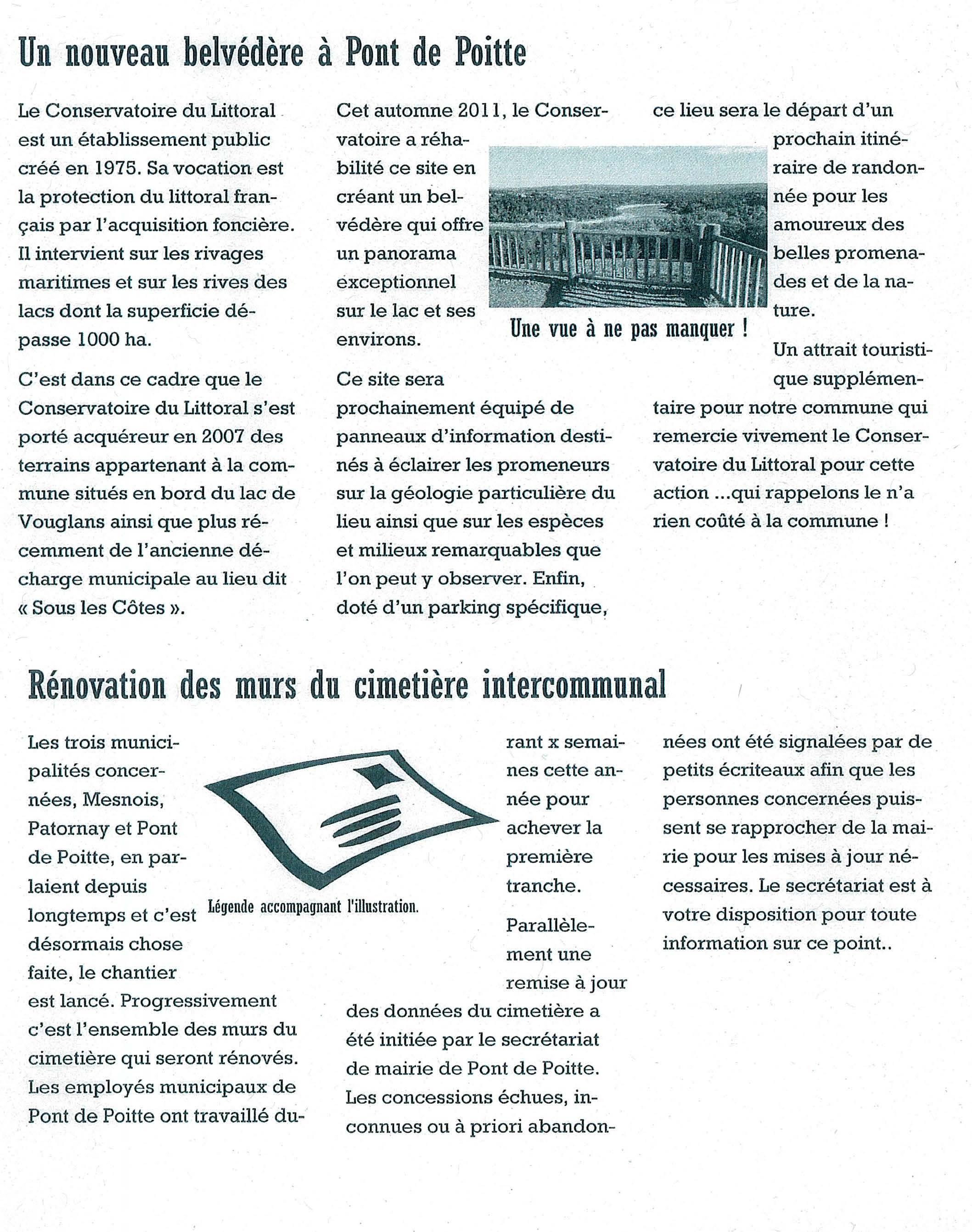 Bulletin municipal de Pont-de-Poitte, extrait