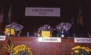 Convention CITES, Lausanne, Suisse 1989