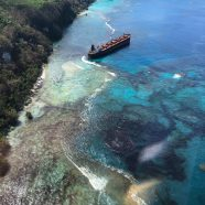 Oil spill caused by bauxite