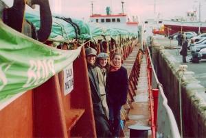 Salon nautique sur le navire sous-normes Han à Brest 2000