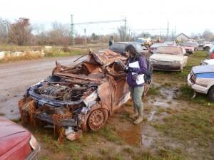 Déchets post-catastrophe, Ajka, Hongrie, 2010